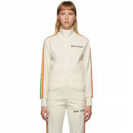 Palm Angels Off-White Rainbow Classic Track Jacket PMBD001E20FAB0020384