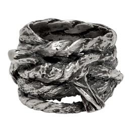 Ann Demeulemeester Silver Multi Rope Ring 2001-0574-001-005