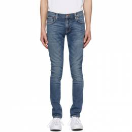 Nudie Jeans Blue Tight Terry Jeans 113117