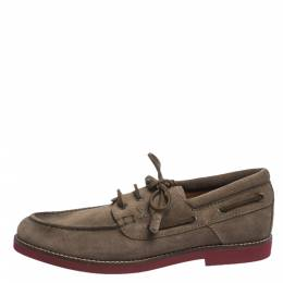 Louis Vuitton Brown Suede Tassel Lace Up Derby Loafer Size 41.5 296341