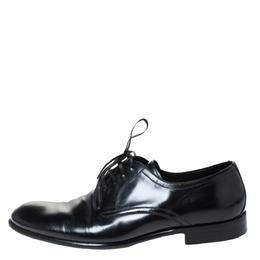 Dolce&Gabbana Black Leather Derby Size 40 296349