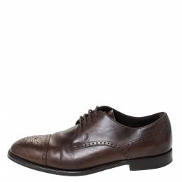 Tod's Brown Brogue Leather Lace Up Derby Size 40 Tod's 296512