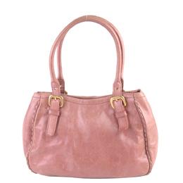 Prada Pink Leather Vitello Shine Satchel Bag 293971