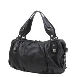 Gucci Black Leather Icon Bit Satchel Bag 293955