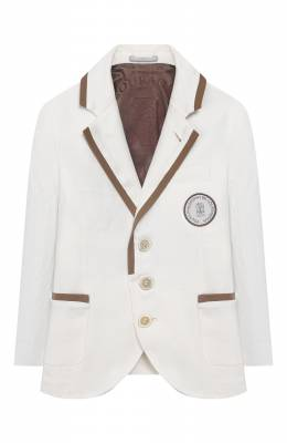 Льняной пиджак Brunello Cucinelli BD418K700A