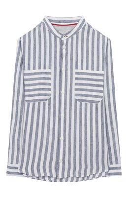 Рубашка из льна и хлопка Brunello Cucinelli BW610C330B