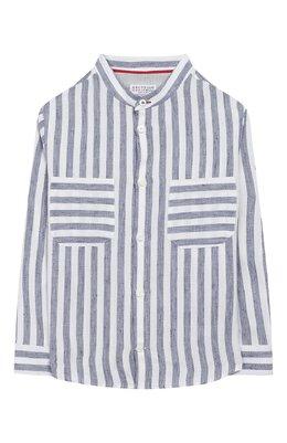 Рубашка из льна и хлопка Brunello Cucinelli BW610C330A