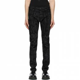 Takahiromiyashita The Soloist Black Disney Edition Mickey Mouse Words Jeans smd.0003SS20