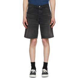 Neighborhood Black Denim Washed C-ST Utility Shorts 201XBNH-PTM02S