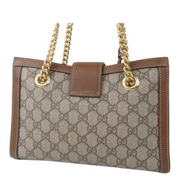Gucci Brown GG Supreme Canvas Small Padlock Tote Bag 294033