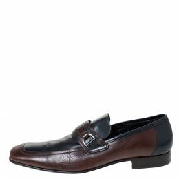 Dolce&Gabbana Two Tone Leather Slip On Loafers Size 42.5 296395