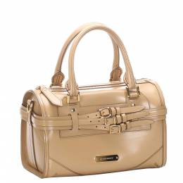Burberry Brown Patent Leather Satchel Bag 295510