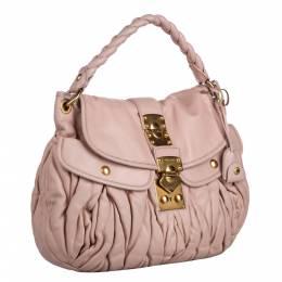 Miu Miu Pink Leather Coffer Satchel Bag 295532