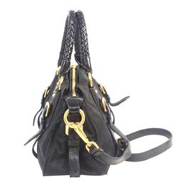 Prada Black Tessuto Nylon Satchel Bag 290155