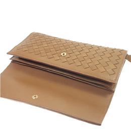 Bottega Veneta Brown Intrecciato Leather Continental Wallet 286851