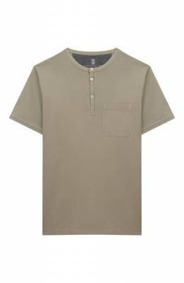 Хлопковая футболка Brunello Cucinelli B0B13T120B