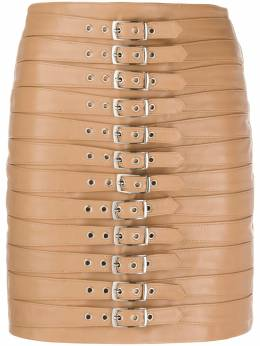 Manokhi юбка Dita с поясом AW20MANO20A159DITASKIRTLIGHTBROWNSILVER