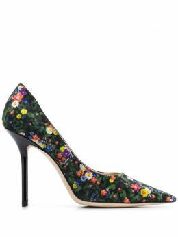 Jimmy Choo туфли-лодочки Love 100 с цветочным принтом LOVE100QDY