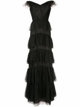 Marchesa Notte кружевное платье с открытыми плечами N39G1929