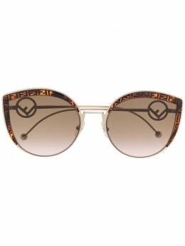 Fendi Eyewear солнцезащитные очки в круглой оправе с монограммой FF0290S