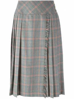 Celine Pre-Owned плиссированная юбка в клетку 250CELI