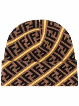 Fendi шапка с логотипом FF FXQ056AA11