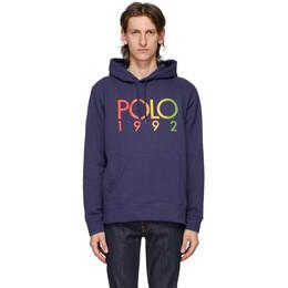 Polo Ralph Lauren Navy Fleece Logo Hoodie 710800158006