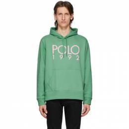 Polo Ralph Lauren Green Fleece Logo Hoodie 710800158003