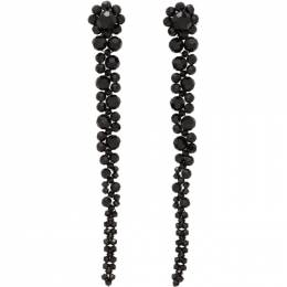 Simone Rocha Black Drip Earrings ERG12 0903 Crystal