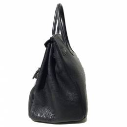 Hermes Black Togo Leather Palladium Hardware Birkin 35 Bag 296885