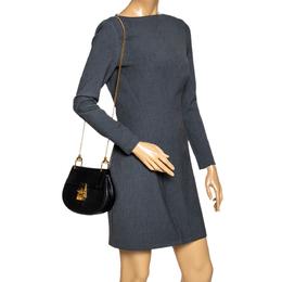 Chloe Black Leather Mini Drew Shoulder Bag 296560