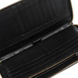 Furla Black Leather Zip Around Wallet 296904