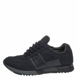 Prada Sport Dark Blue Canvas and Leather Sneakers Size 43.5 296947