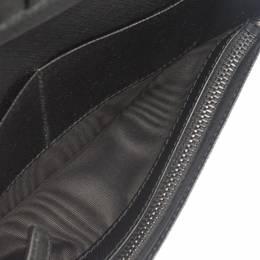 Prada Black Saffiano Leather Vertical Wallet 291507