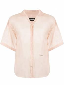 Dsquared2 полупрозрачная рубашка с короткими рукавами S71DM0401S49427