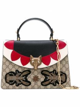 Gucci сумка на плечо с декором в виде головы лисы 466432K9GEX