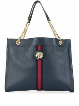 Gucci сумка-тоут с металлическим логотипом 5372190OLHX