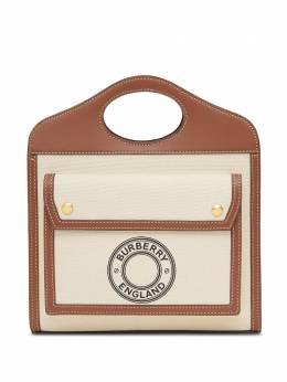 Burberry мини-сумка с логотипом 8028062