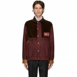 Gucci Brown and Burgundy GG Mignon Jacket 614482 Z8AJJ