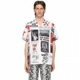 Wacko Maria White and Multicolor Rage Against The Machine Edition Hawaiian Shirt RATM-WM-HI01