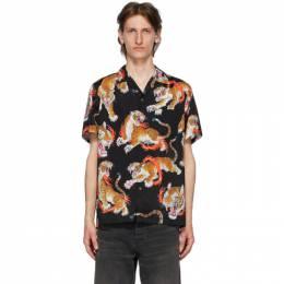 Wacko Maria Black and Multicolor Tim Lehi Edition Hawaiian Shirt TIMLEHI-WM-HI13