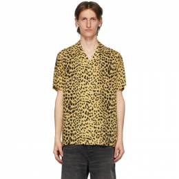 Wacko Maria Yellow and Black Open Collar Shirt 20SS-WMS-HI09