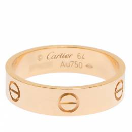 Cartier Love 18K Rose Gold Band Ring Size 64 296859