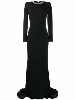 Stella McCartney вечернее платье с декорированным воротником 599747SCA06