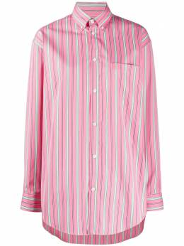 Balenciaga рубашка оверсайз в вертикальную полоску 622224TIM18