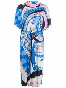 Emilio Pucci платье с абстрактным принтом и воротником-хомут 0RJH500R737