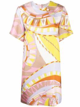 Emilio Pucci платье-трапеция Wally с принтом 0RRG400R731