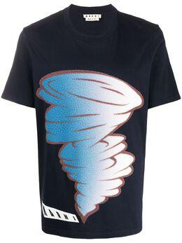 Marni футболка с логотипом HUMU0165P0S22763