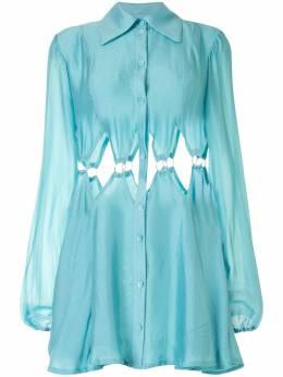 Cult Gaia платье-рубашка Bey с вырезами 50144K08