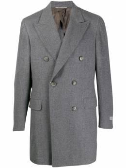 Canali двубортное кашемировое пальто FX02240201